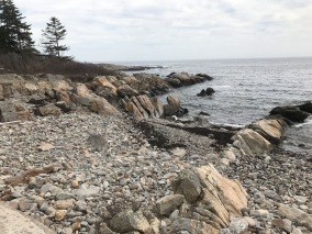 This is the rocky Maine coast John V. loved so much.
